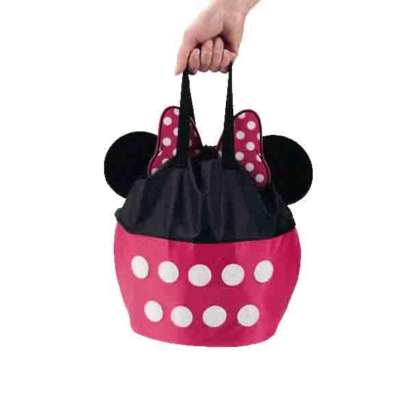ミニー柄のオリジナルデザインの持ち運び袋