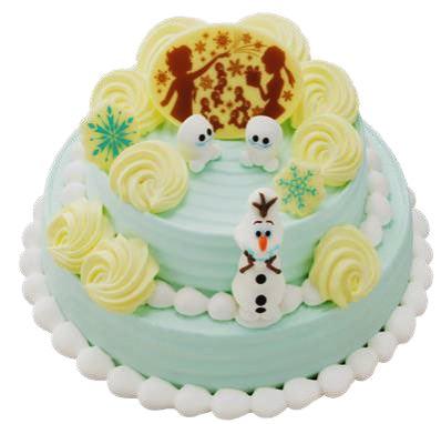 'アナと雪の女王' サプライズクリスマスケーキ ~ 'オラフ' みんなのケーキ食べちゃダメよ ~