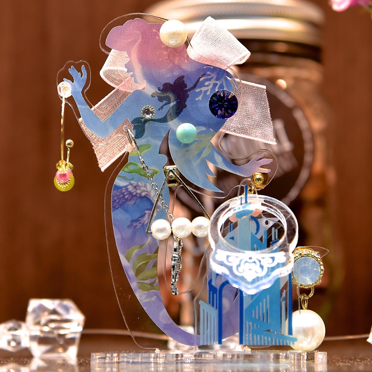   ディズニープリンセスのお洒落なアクセサリースタンド☆テンヨー「キラクリコレクション」発売