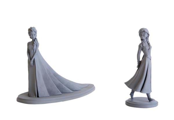 「アナと雪の女王」アナ&エルサ アニメーション・マケット(2013年)「アナと雪の女王」アナ&エルサ アニメーション・マケット(2013年) ©Disney