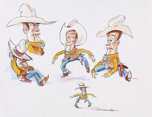 "ABC SPECIALS - ABC will air a tribute to the Pixar Animation Studios film that ushered in a new era of computer animation, in the original special, ""Toy Story At 20: To Infinity and Beyond,"" THURSDAY, DECEMBER 10 (8:00-9:00 p.m., EST). (Disney/Pixar) ORIGINAL SKETCH FROM ""TOY STORY"""