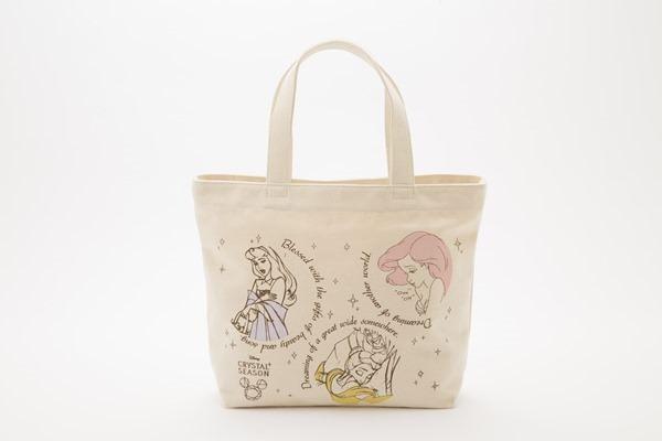 ディズニープリンセストートバッグ~Cristal Season~ オーロラ姫 アリエル ベル