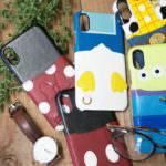Disney : iPhone X用 ハードケース ポケット付き 集合