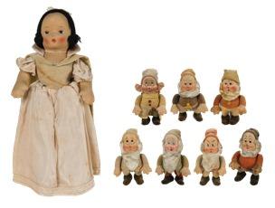 「白雪姫」  R.G.クルーガー社アンティーク人形(1938年頃) ©Disney