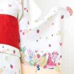 トロピカル浴衣(ミニー&ディジー&クラリスver.)マンゴーカラー柄