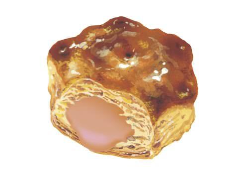 ロッテ「不思議の国のおおきなパイの実<発酵バター薫るカスタードパイ>」 (1)