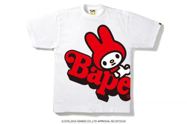 Tシャツマイメロディ*bape
