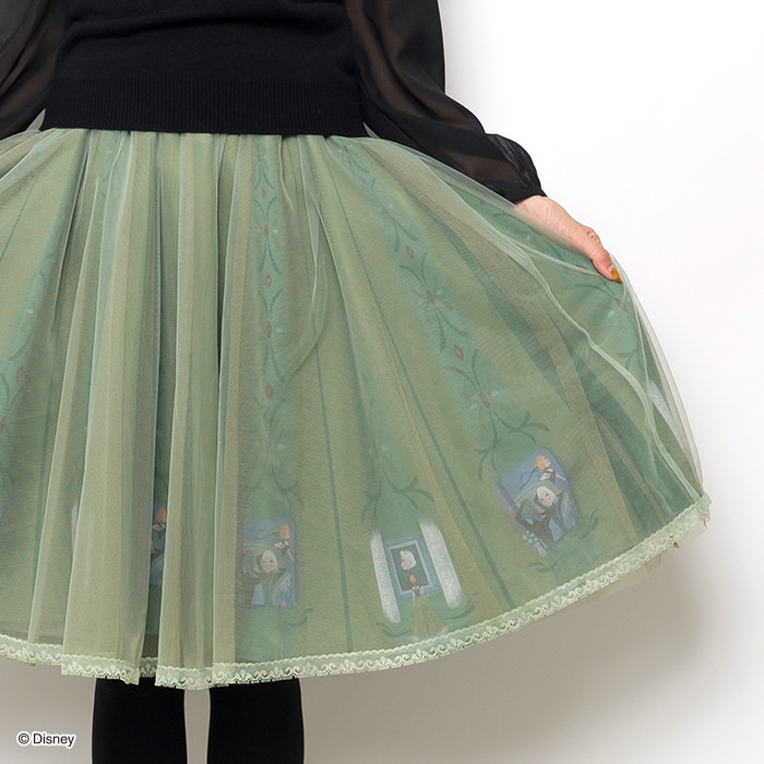 戴冠式チュールスカート(アナと雪の女王ver)裾アップ