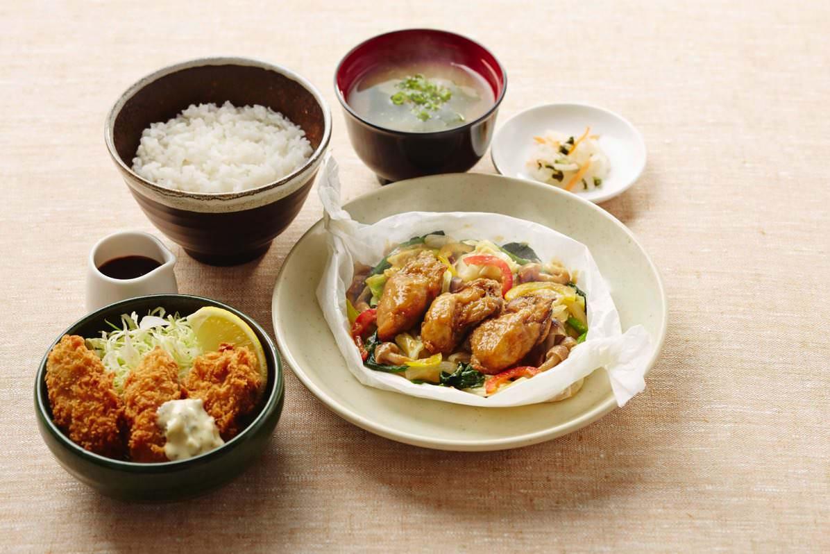 広島産牡蠣のよくばり御膳