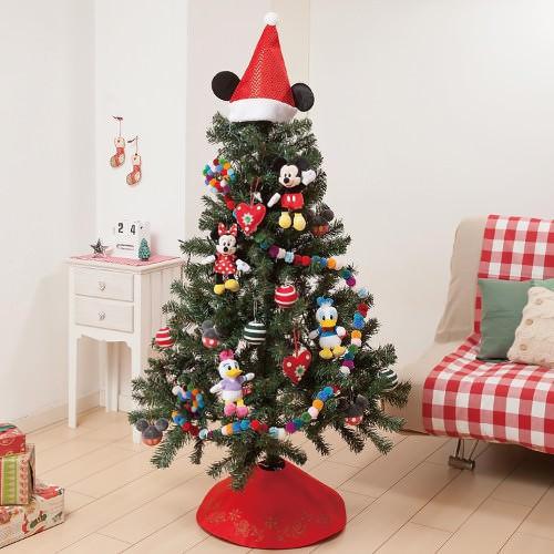 LEDライト付き150cmクリスマスツリー(ミッキー&フレンズ)