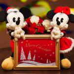 """プレゼントに追加したい!ケイウノ""""ミッキーマウス""""&""""ミニーマウス""""ぬいぐるみ クリスマスバージョン登場"""