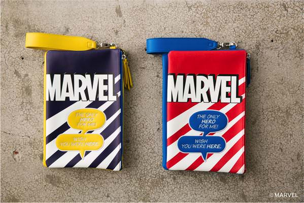 MARVEL COMIC CLUCH (MOUSSY) 柄RED/柄NVY ¥7,980+tax
