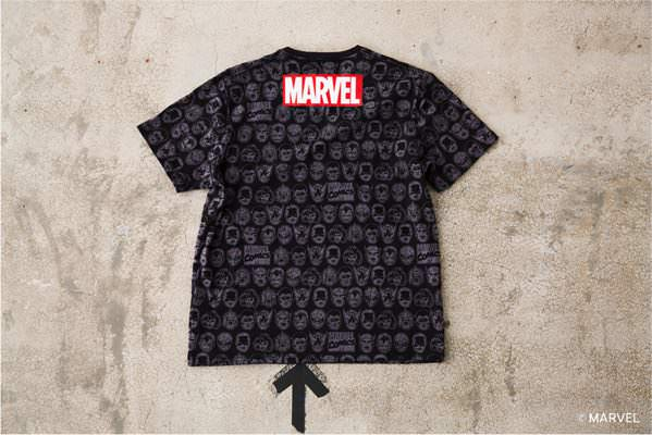 MARVEL マスク総柄半袖Tシャツ (AZUL by moussy) BLK ¥3,990+tax 裏面