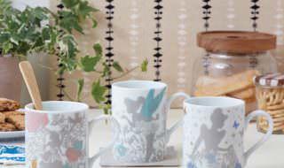 電子レンジ対応カッティングアート柄のマグカップ イメージ