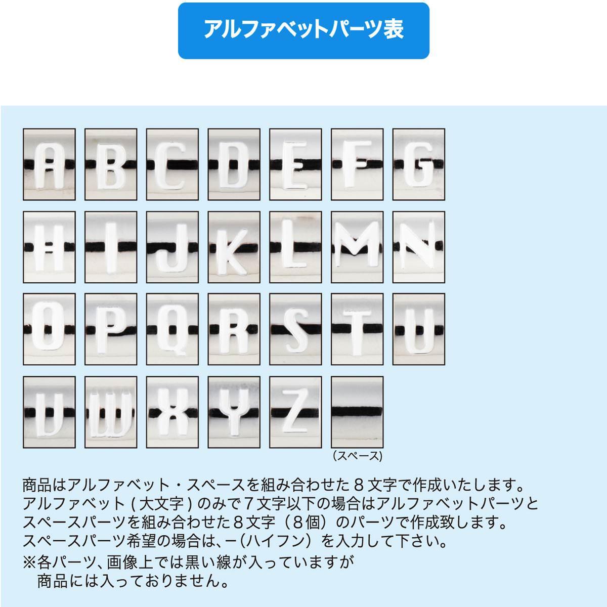 キャラクターキーチェーン パーツ表