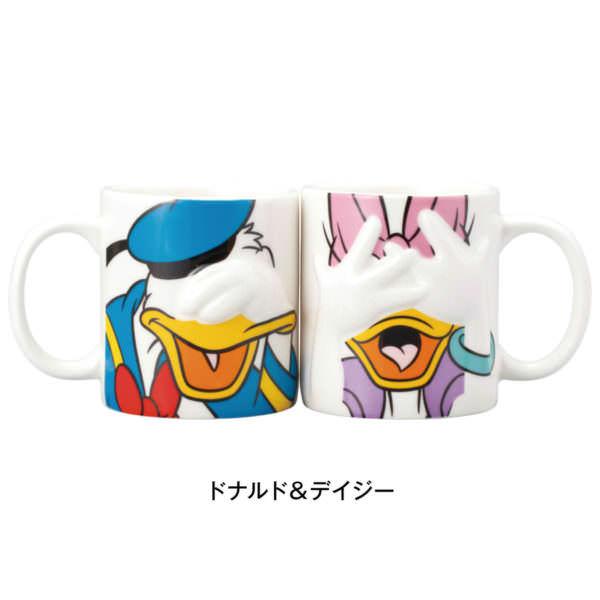 ハンディングペアマグカップ ドナルド&デイジー