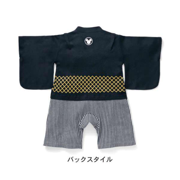 紋付袴風オール バックスタイル