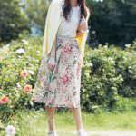 花柄プリントスカート ミニー 着用