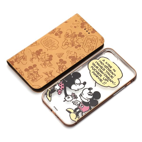 IPhone 7用 2WAY COVER ミッキー ミニー 2
