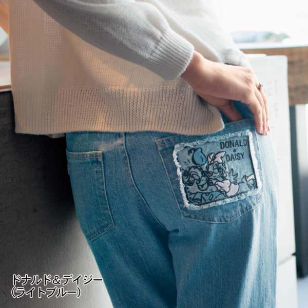 刺繍ポケットデニムパンツ ドナルドデイジー