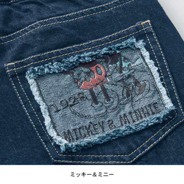 刺繍ポケットデニムパンツ ミッキーミニー デザインアップ