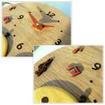 木製掛け時計(かものはしかも。)