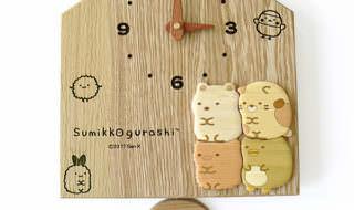 すみっコぐらし木製掛け時計