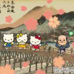 デッチーくんハローキティを京都に誘う