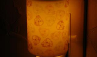 セラミックアロマコンセントランプ チップ&デール 点灯時