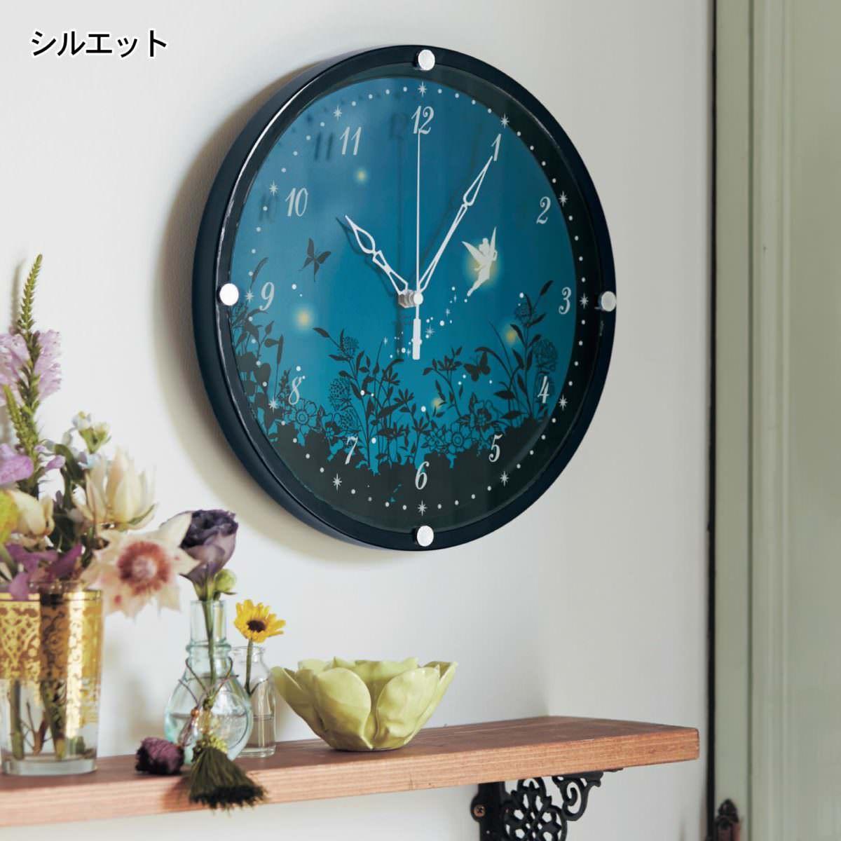 掛け時計 ティンカーベル シルエット