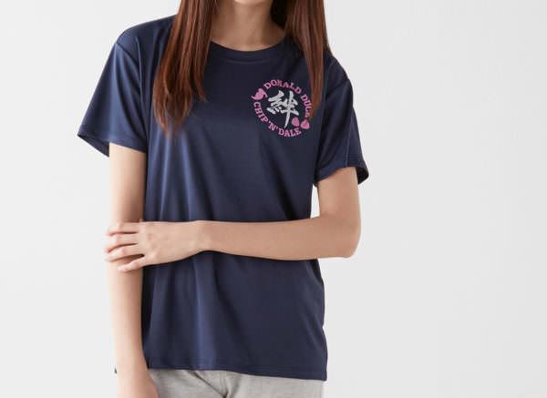 ドナルド&チップ&デールメッシュ部活Tシャツ ネイビー