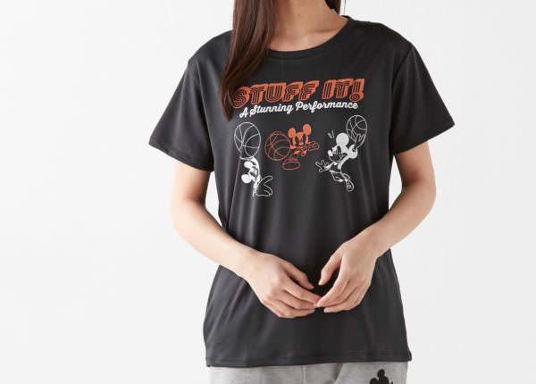 ミッキーメッシュ部活Tシャツ ブラック