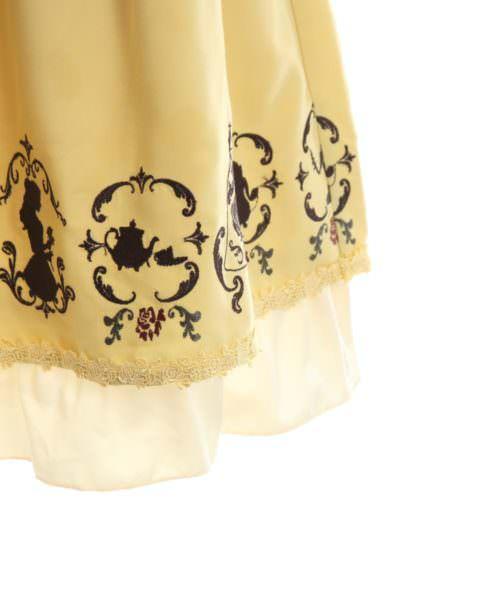 axes 繍スカート/美女と野獣 イエロー 裾