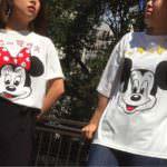 カタカナTシャツ ミッキー&ミニー