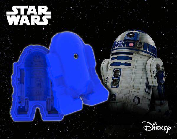 R2 D2型 立体シリコンモールド イメージ