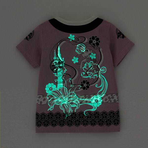 光るお祭り半袖Tシャツ ラプンツェル 光る バックスタイル