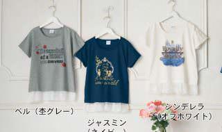 裾レースプリントTシャツ