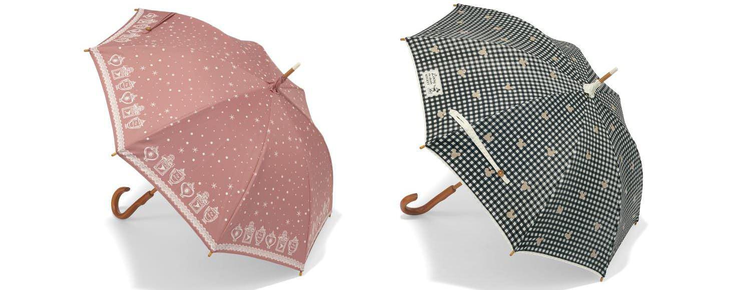 木棒の二重張り晴雨兼用日傘