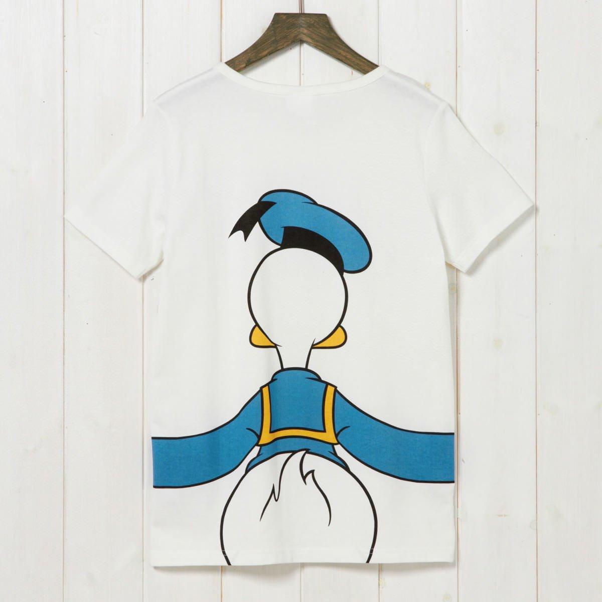 つながるプリントTシャツ ドナルド バック