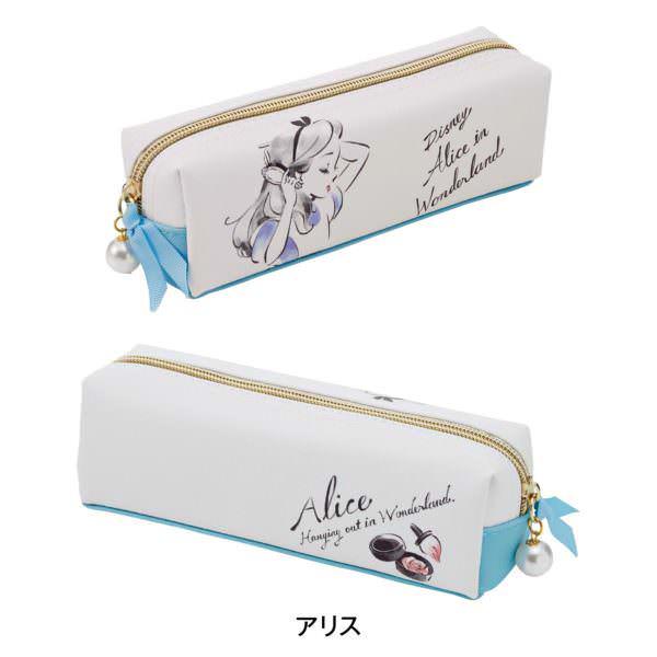 スケッチ風デザインのBOXペンケース アリス