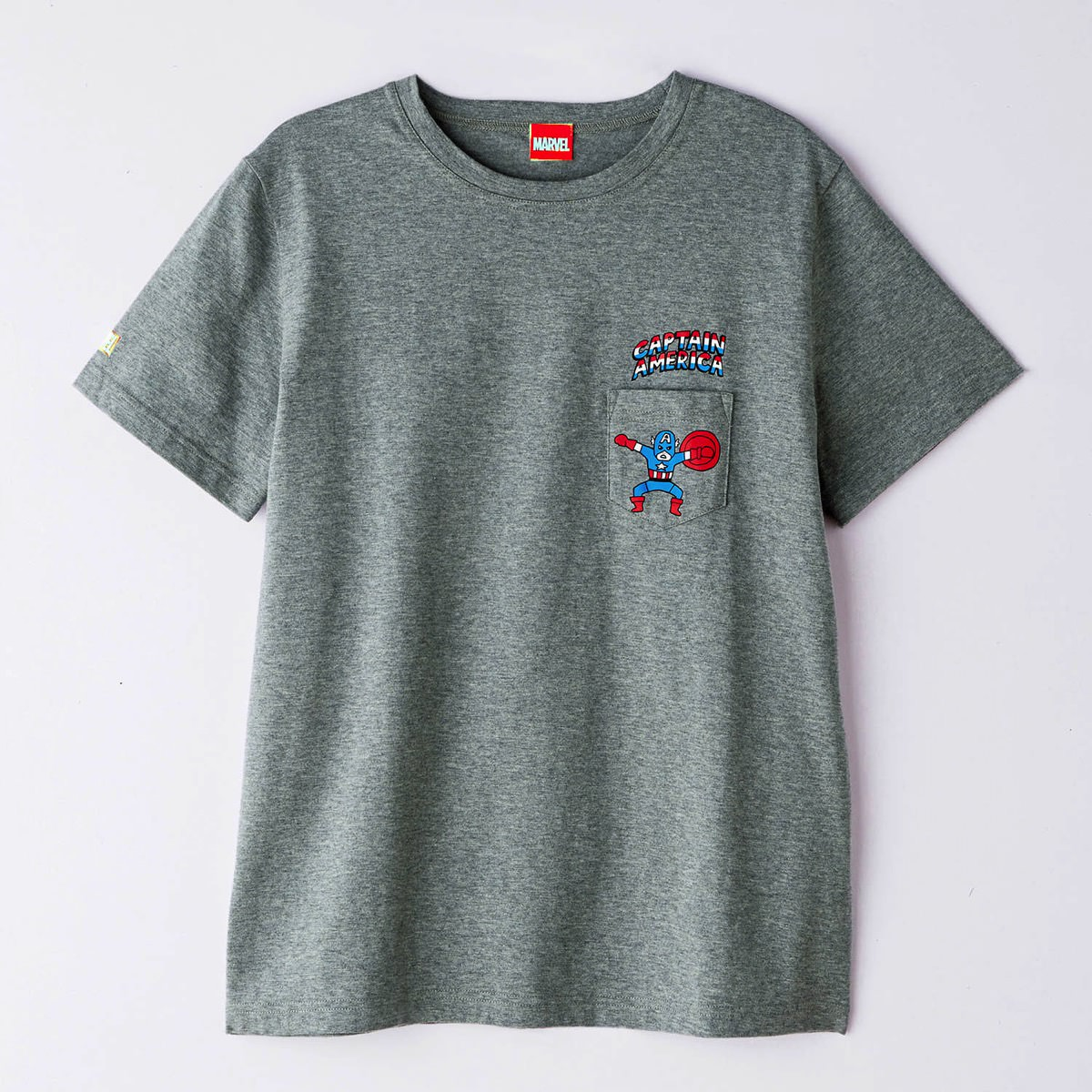 ポケットTシャツ ユニセックス キャプテン アメリカ