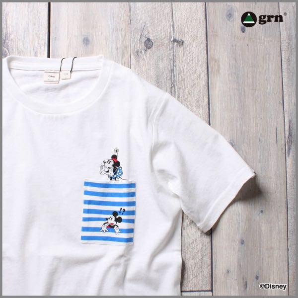 ミッキーマウスポケット付きTシャツ イメージ