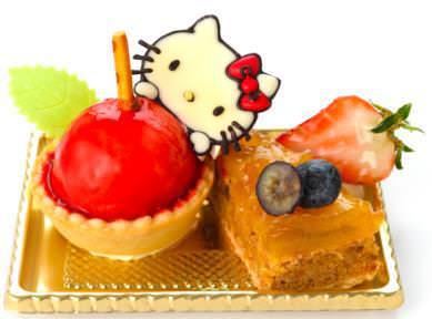サンリオ男子 ハローキティのキュートなリンゴ型タルト&アップルケーキ