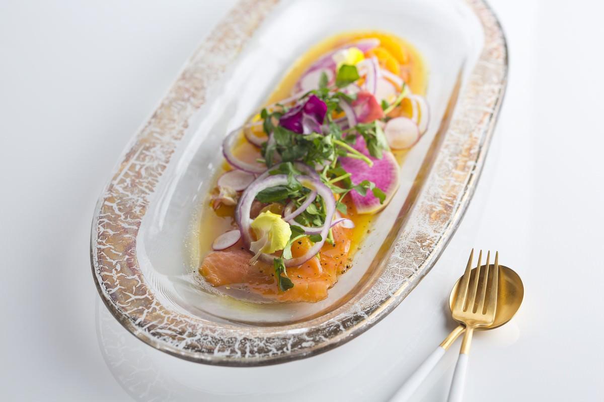 グランカフェ サーモンのマリネ シチリアンスタイル