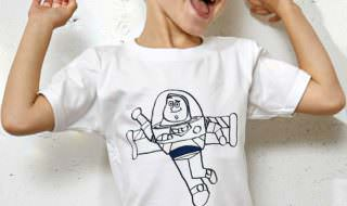 green label relaxing TOY STORY(トイストーリー)プリント Tシャツ バズ着用イメージ