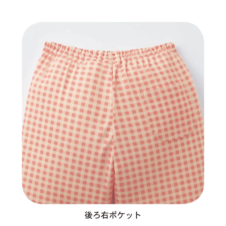 ガールズ半袖Tシャツ&七分丈パンツパジャマ ポケット