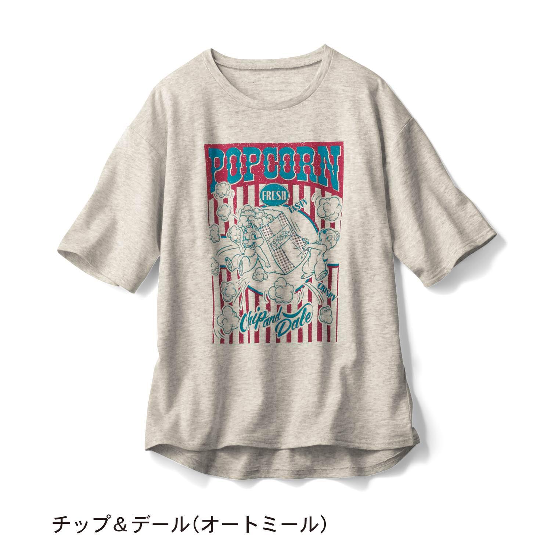 プリントスラブ天竺Tシャツ チップデール