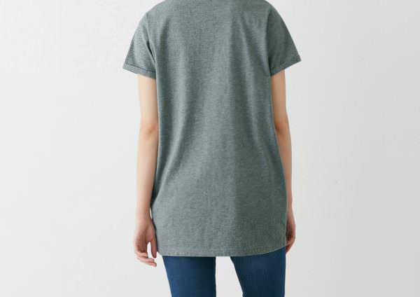USAコットンディズニーチュニックTシャツ 着用イメージ バック