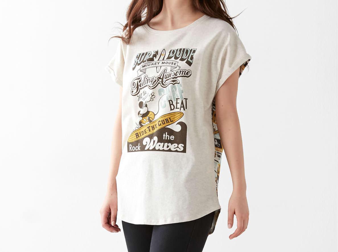 バック総柄チュニックTシャツ ミッキー