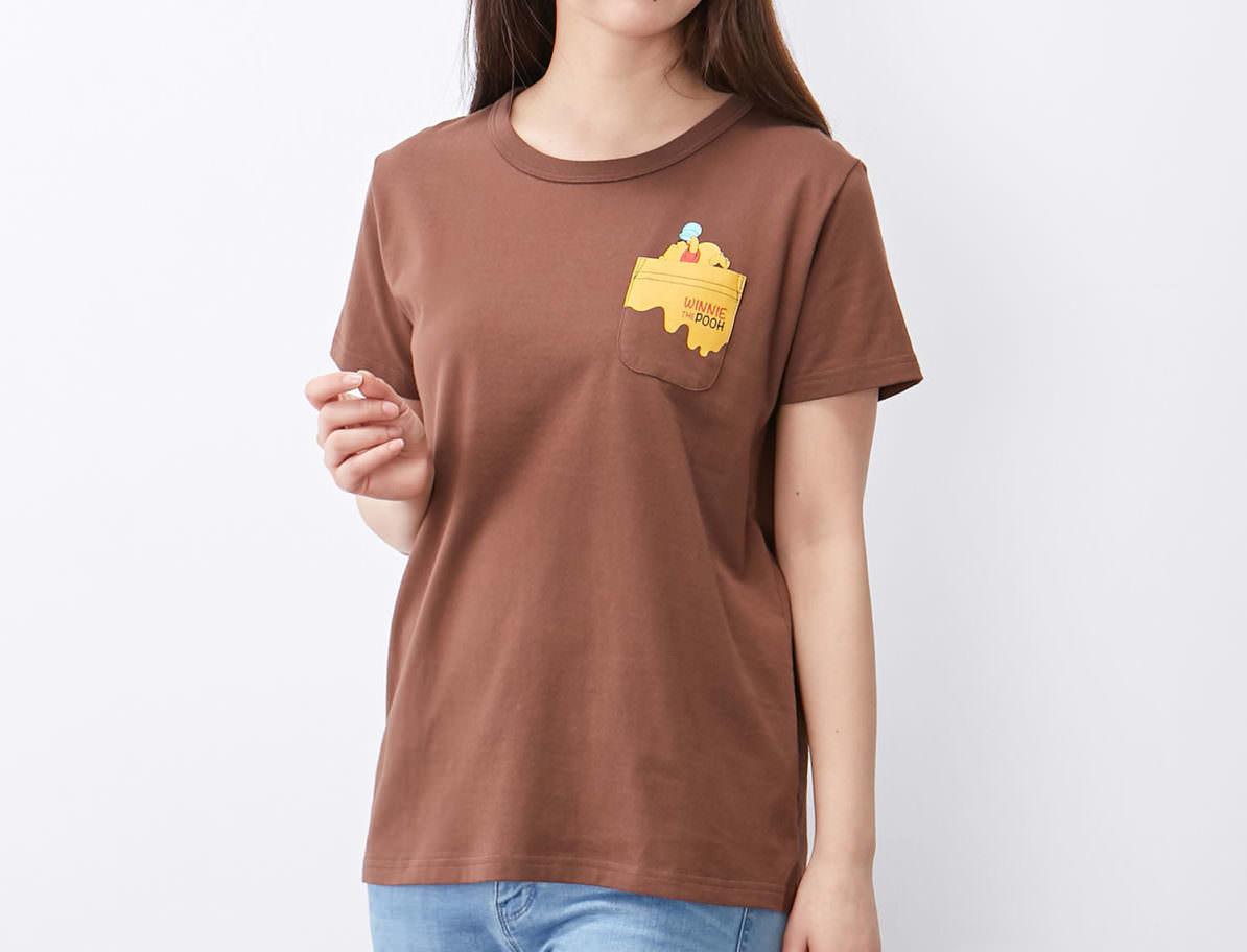 ポケットデザインTシャツ プー